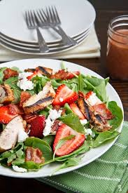 grilled chicken salad with strawberries. Exellent Grilled Strawberry And Balsamic Grilled Chicken Salad Inside With Strawberries B