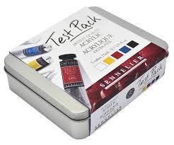 Sennelier Ink Color Chart Sennelier Artist Extra Fine Acrylic Test Pack 5 Color 21ml Tube