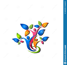 Family Tree Shadow Logo Vector Illustrator Stock Illustration
