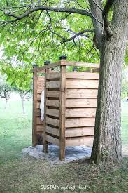 diy outdoor shower stall ideas enclosure plans