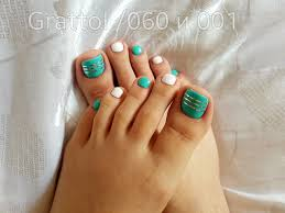Turquoise Toe Nail Designs