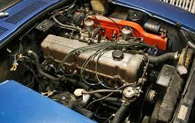 datsun spannerhead 1972 72 datsun 240z blue l24 l 24 inline 6 six engine motor