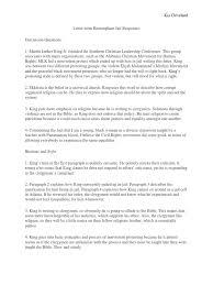 Letter From Birmingham Jail Responses Martin Luther King Jr