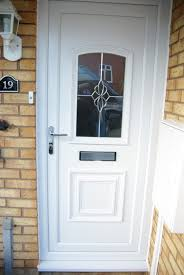 White Double Front Door UPVC White Front Door Double R Nongzico