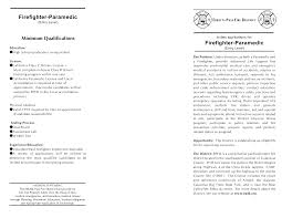 Paramedic Resume Cover Letter Firefighter Paramedic Resume Firefighter Paramedic Resume 36