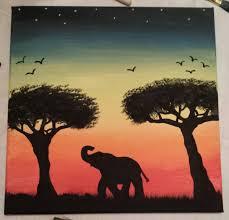 acrylic painting ideas canvas painting elephant