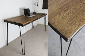 bespoke office desks. russell oak and steel bespoke office desks