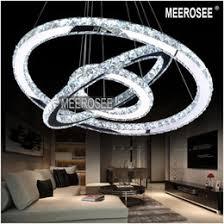 best selling led crystal ring chandelier lamp light lighting fixture modern led rings lusters diameter 700mm best office lamps