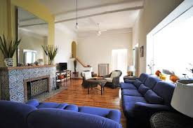 Yellow And Blue Living Room Living Room Navy Blue Sofa In Ideas Home And Interior