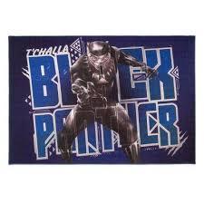 black panther multi colored 5 ft x 7 ft indoor juvenile area rug