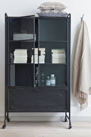 Cabinet Steel storage. Soft plaids, metal, glass. BePureHome collection  2015/2016