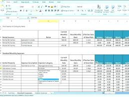 Property Management Spreadsheet Template Excel Monthly Expenses ...