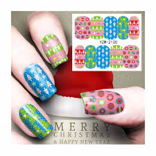 Happy Design Nails Hours Us 0 27 5 Off Zko 1 Sheet Nail Art Water Tattoo Design Nails Christmas Holiday Design Water Transfer Decals 2130 In Stickers Decals From Beauty