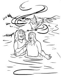 Jesus Is Baptized Coloring Page Childrens Ministry Deals