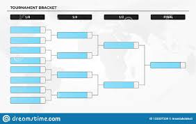 Blank Tournament Bracket Template For World Cup Competitions