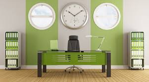 green ideas for the office. Green Office Interior. Fresh Look In The Interior Design Added With Houseplant Decoration Ideas For