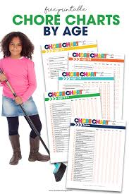 Chore Charts By Age Free Downloadable Printable