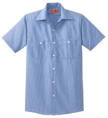 Buy Red Kap Long Size Short Sleeve Striped Industrial Work