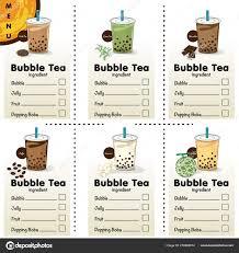 Bubble Tea Menu Template Bubble Tea Menu Graphic Template