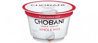 chobani whole milk greek yogurt plain