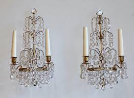 chandelier wall sconce design of chandelier swedish gustavian style crystal and bronze candle wall