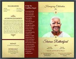 Free Download Funeral Program Template Stunning Obituary Program Brochure Template Funeral Free Download Maker For