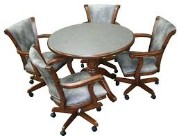 kitchen chairs with wheels attractive dining room table and chairs with wheels with kitchen chairs wheels
