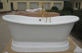 new porcelain bathtub