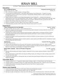 Political Science Resume Sample