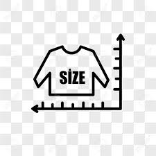 Size Chart Vector Icon Isolated On Transparent Background Size