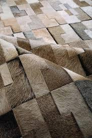 faux cowhide rug grey