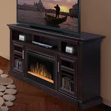 dimplex bailey espresso electric fireplace a console glass embers gds25g 1242e