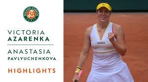 Victoria Azarenka vs Anastasia Pavlyuchenkova - Round 4 Highlights I  Roland-Garros 2021 - YouTube