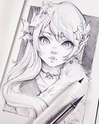 Great artist and easy to work with. 20 3k Likes 87 Comments Asia Ladowska Ladowska On Instagram Slow Steps Into A Festive Mood Sketchin Anime Drawings Sketches Anime Sketch Anime Drawings