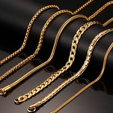 solid gold chains for men photo 1
