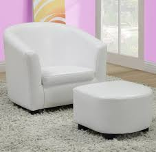 Leather Accent Chair With Ottoman Monarch Specialties 8104 Accent Chair Ottoman In White Leather
