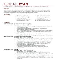 Example Resume Customer Service Manager Sample Resumes A Good Of ...