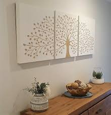 tree of life white carved timber wall
