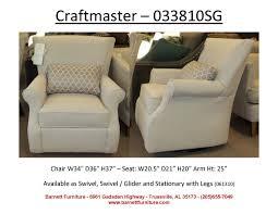swivel chair craftmaster 033810sg glider chair