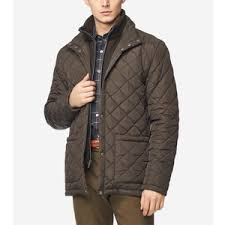 Mens Diamond Quilted Jacket In Navy Cole Haan Us