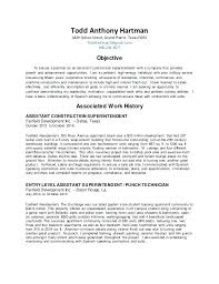 Resumes For Construction Resume For Construction Superintendent Construction Estimator