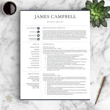 Words To Describe Yourself On Resume Awesome Professional Resume Template Conservative Resume Template Etsy