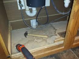Under Kitchen Sink Cabinet Replacing The Wood Floor Under The Kitchen Sink Teaching