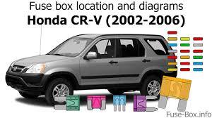 2006 Honda Crv Warning Lights Fuse Box Location And Diagrams Honda Cr V 2002 2006