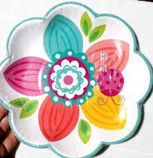 flower paper plates spring fling flower shape paper plates napkins set floral party bbq
