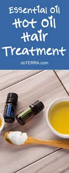 doterra essential oils diy homemade hot oil hair treatment recipe