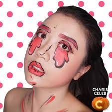 isn t it a funny thing doing pop art makeup i have a lot