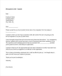 Employment Resignation Letter To Employer
