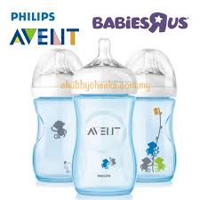 Avent Decorated Bottles Philips Avent Natural Decorated Bottle Blue Monkey 100 x 100oz100ml 4