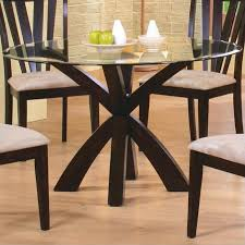 dining room amazing coaster shoemaker crossing pedestal table with glass top in intended for modern round